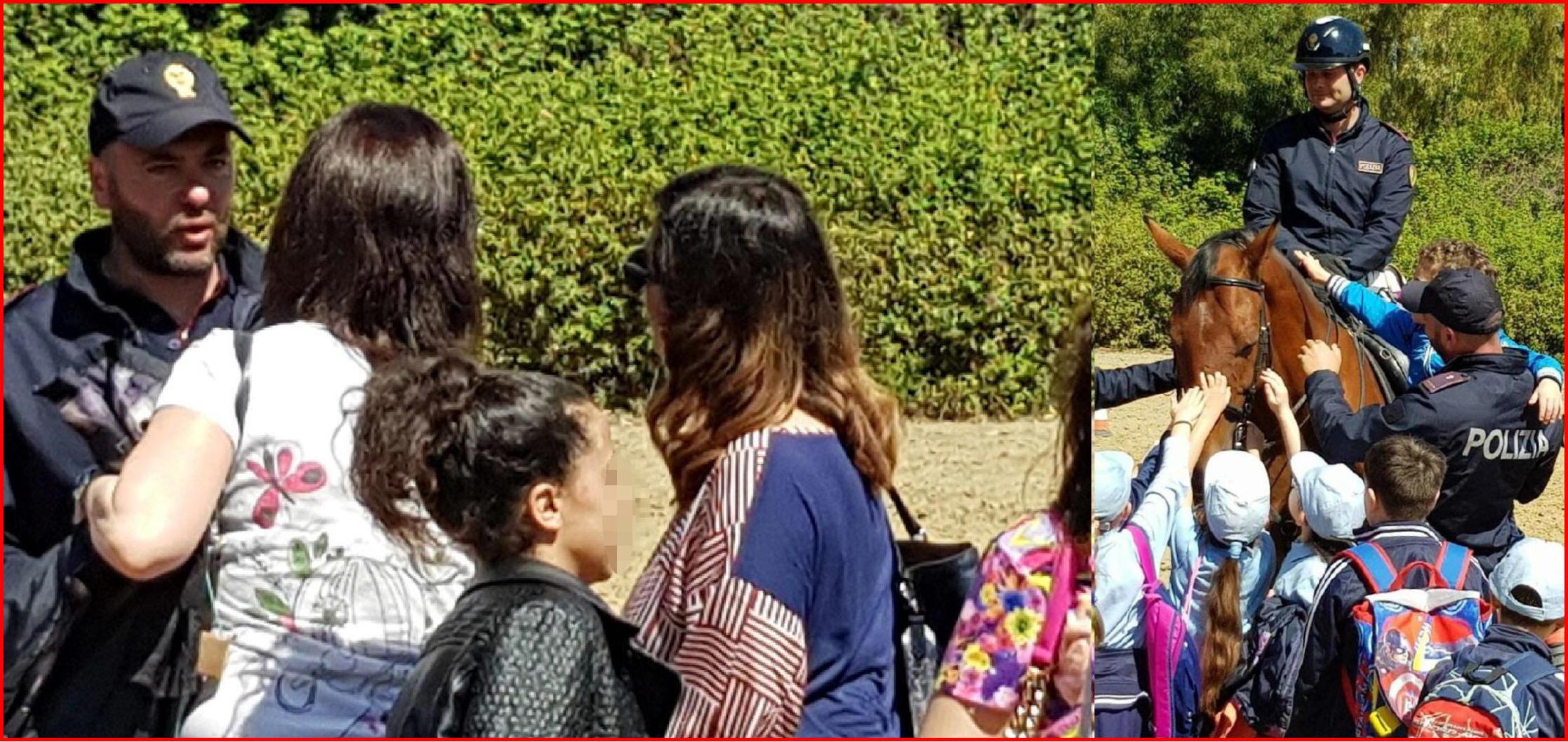 5deeb2b0a7e8 CATANIA - 150 studenti visitano Reparto Polizia a Cavallo. I bambini di  elementari e medie hanno assistito alle dimostrazioni della Squadra  Cinofili ...