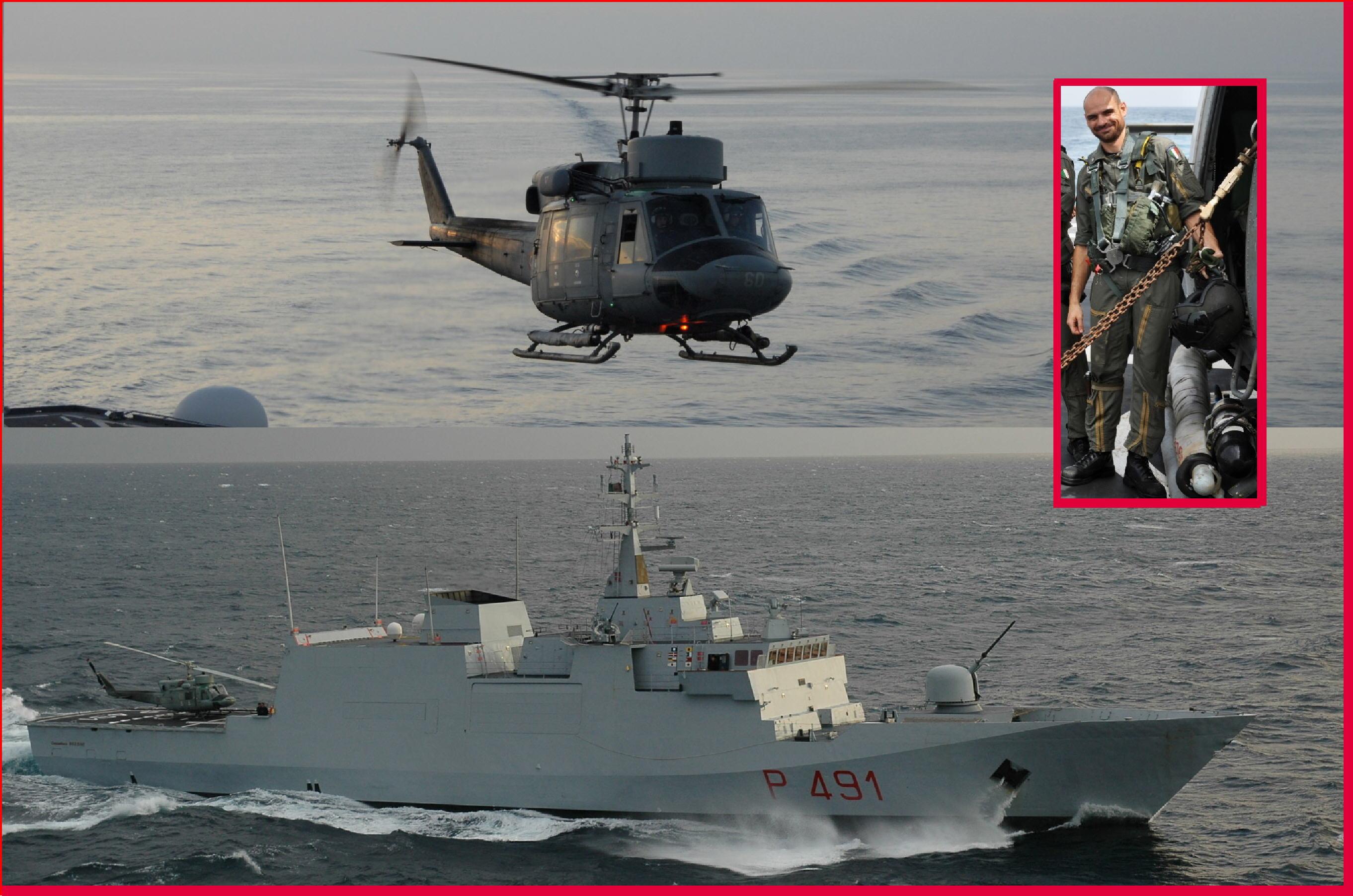 AUGUSTA SR – Elicottero marina inabissato in Mediteraneo 1 militare morto 4 salvi La vittima ¨ lo specialista di volo C°1 cl Andrea FAZIO